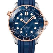 Omega Seamaster Diver 300 M Gold/Steel 42mm Blue