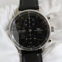 IWC IW371413 White gold 2006 Portuguese Chronograph pre-owned