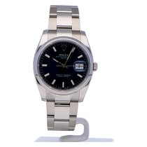 Rolex Oyster Perpetual Date Staal 34mm Blauw Geen cijfers Nederland, Amsterdam