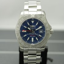 Breitling Avenger II GMT Steel 43mm Blue No numerals United States of America, New York, Buffalo