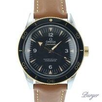 Omega Seamaster 300 Gold/Steel 41mm Black Arabic numerals