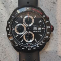 TAG Heuer Formula 1 Calibre 16 pre-owned 44mm Black Chronograph Date Tachymeter Rubber