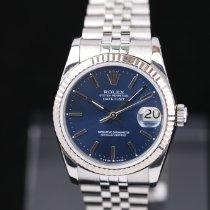 Rolex Lady-Datejust Сталь 31mm Синий Без цифр