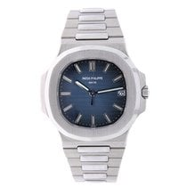 Patek Philippe Nautilus  40mm Stainless Steel Watch Blue Dial...