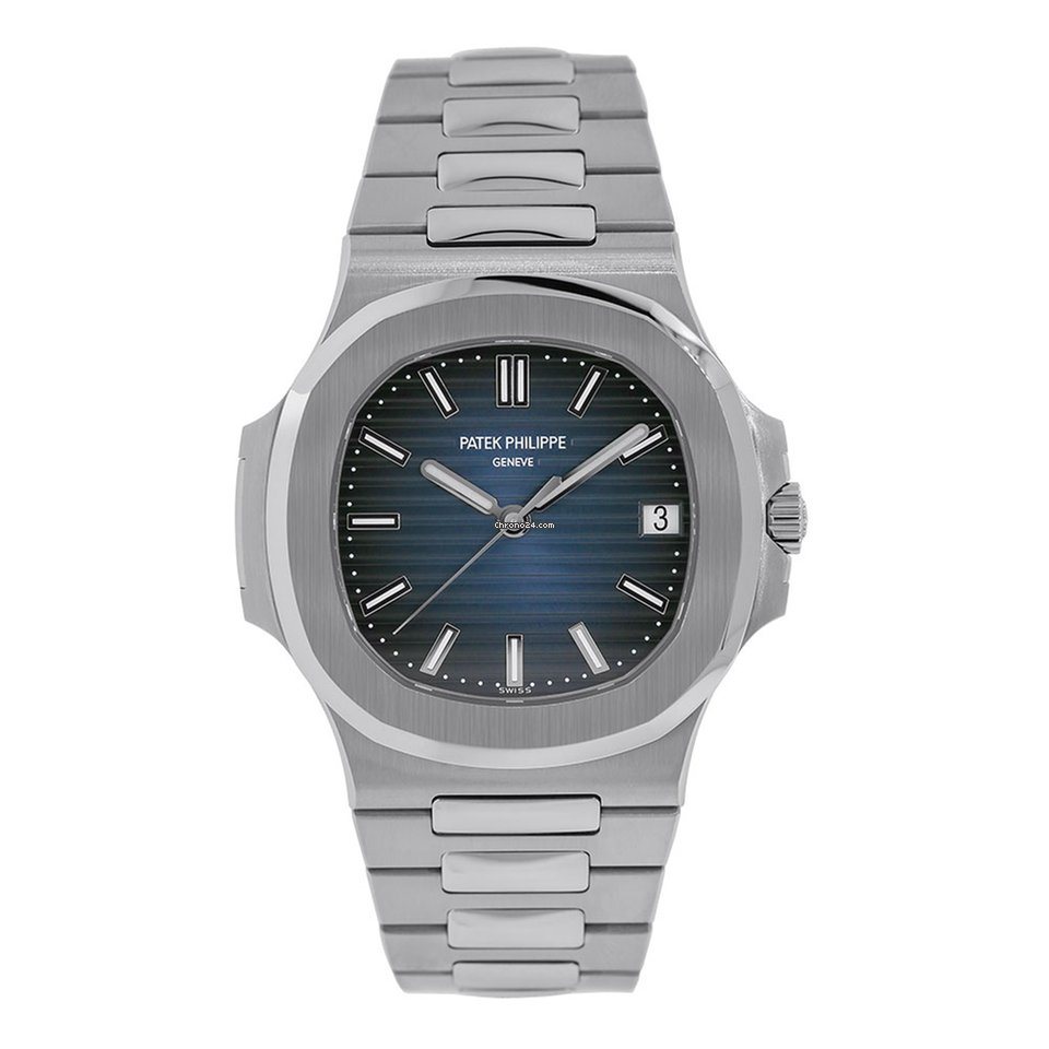 Patek Philippe Nautilus 40mm Stainless Steel Watch Blue Dial Watch 5711
