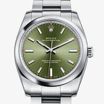 Rolex Oyster Perpetual Olive Green Dial