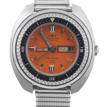 Technos Skydiver 1000m Orange Dial Diving watch