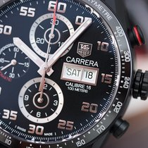 TAG Heuer Carrera Calibre 16 Day-Date Black Titanium 43mm Mens...