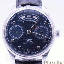 IWC Portuguese Annual Calendar Çelik 44.2mm Mavi Arapça