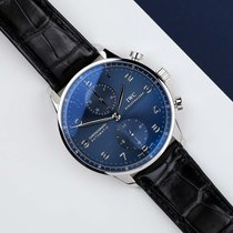 IWC Portuguese Chronograph Steel 40mm Blue