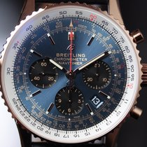 Breitling Red gold Automatic Blue No numerals 43,00mm new Navitimer 1 B01 Chronograph 43