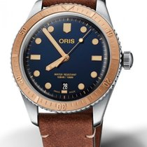 Oris Bronze Automatic Blue 40mm new Divers Sixty Five