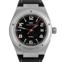 IWC Ingenieur AMG pre-owned 42mm Black Date Leather