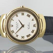 Rolex Cellini Žluté zlato 33mm Šampaňská barva Římské