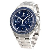Omega Титан Автоподзавод Синий Без цифр 44,25mm новые Speedmaster Professional Moonwatch