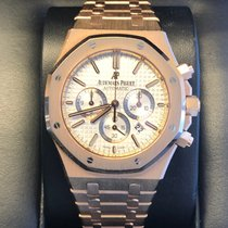 Audemars Piguet Royal Oak Chronograph pre-owned 41mm Silver Chronograph Date Rose gold