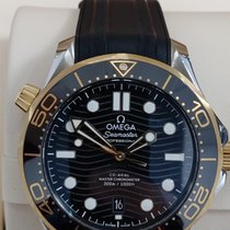 Omega Seamaster Diver 300 M Gold/Steel 41mm Black No numerals