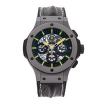 Hublot Big Bang Aero Bang pre-owned 44mm Black Chronograph Date Crocodile skin