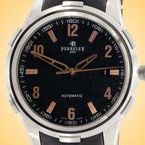 Perrelet Class-T Steel 42mm Black Arabic numerals