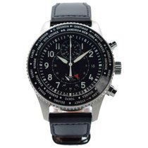 IWC Steel Automatic Black 46mm pre-owned Pilot Chronograph