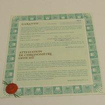 Rolex Warranty Certificate Ref: 78274