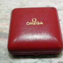 Omega vintage pocket watch box red leather