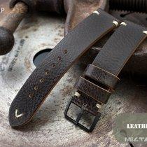 MiLTAT 21mm Dark Brown Genuine Calf Watch Strap, PVD