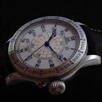 Longines Lindbergh Hour Angle Stahl 47mm Silber Römisch