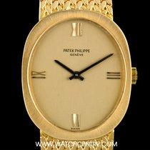 Patek Philippe 18k Yellow Gold Champagne Dial Ellipse Vintage...