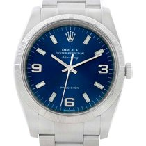 Rolex Oyster Perpetual Air King Blue Dial Steel Mens Watch 114210