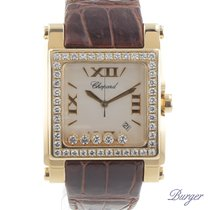 Chopard Happy Sport Square XL Yellow Gold/Diamonds