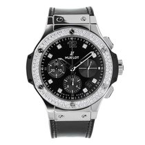 Hublot Big Bang 41mm Shiny Steel with Diamonds