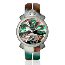 Gaga Milano Manuale 48mm Camouflage In Acciaio Ref. 5010.18s