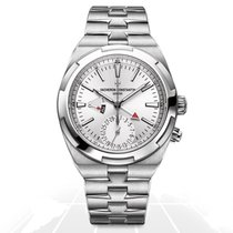Vacheron Constantin Overseas Dual Time Steel 41mm Silver No numerals
