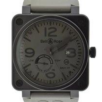 Bell & Ross BR 01-97 Réserve de Marche pre-owned 46mm Grey Rubber