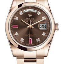 Rolex Day-Date Everose Gold Diamond and Ruby Dial