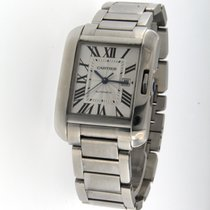Cartier Tank Anglaise tweedehands Staal