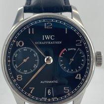 IWC Portugieser Automatik Stahl Schwarz Arabisch Deutschland, Eisenach