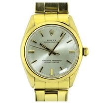 Rolex Oyster Perpetual 34 Yellow gold 34mm Silver No numerals United Kingdom, London