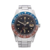 Rolex GMT-Master Pepsi with Gloss Gilt Dial Stainless Steel...