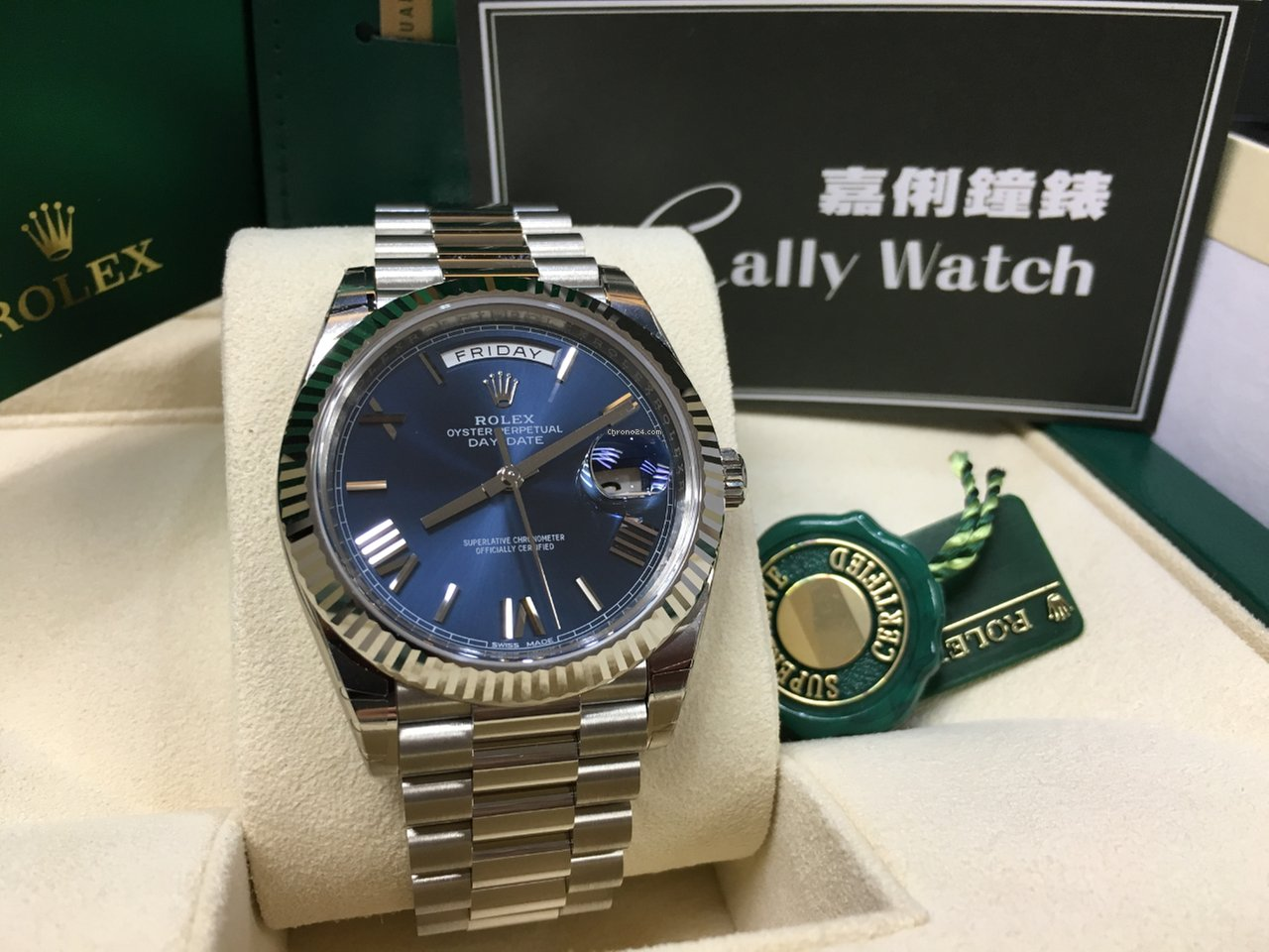 Rolex Cally Day Date Ii 40mm 228239 Blue Roman 2019 New