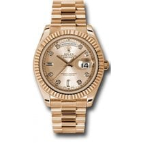 Rolex Day-Date II 218235 18K Rose Gold 41MM Champagne Dial, 8...