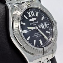 Breitling Windrider Cockpit 41mm A49350 Auto Black Dial Watch...