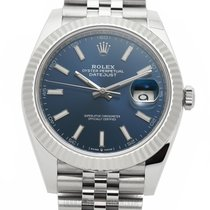 Rolex Datejust II Acier 41mm Bleu