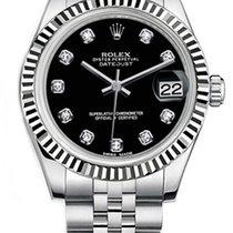 Rolex Lady-Datejust Rolex 178274  Datejust 31mm Stainless Steel Black Diamond 2019 nouveau
