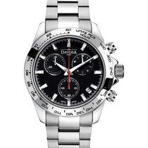 Davosa Speedline Chronograph Steel 42mm Black No numerals