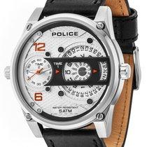 警察 鋼 51mm 石英 PL14835JS.04 新的