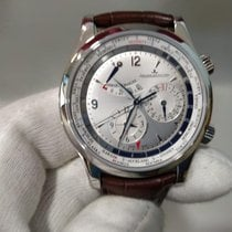 Jaeger-LeCoultre Master World Geographic Stahl 42mm Silber Arabisch