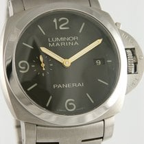Panerai Luminor Marina 1950 3 Days Automatic folosit 44mm Negru Data Titan