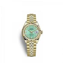 Rolex Lady-Datejust Желтое золото 28mm Зеленый